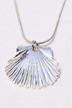 Pure Silver Scallop Shell
