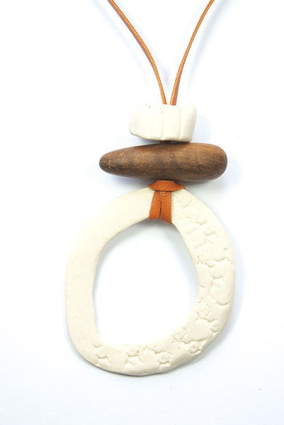 Ceramic Circle Necklace