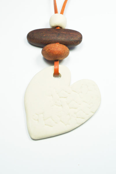 Ceramic Heart Necklace