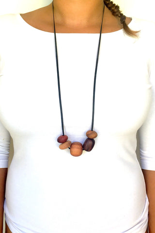 Timber Bead Necklace