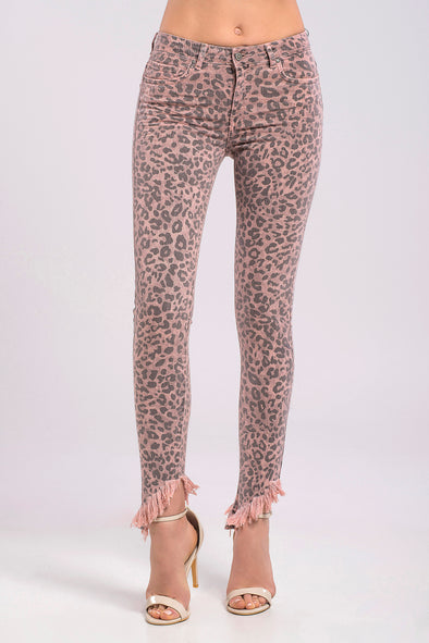 ΤΖΙΝ CROP SKINNY ANIMAL PRINT
