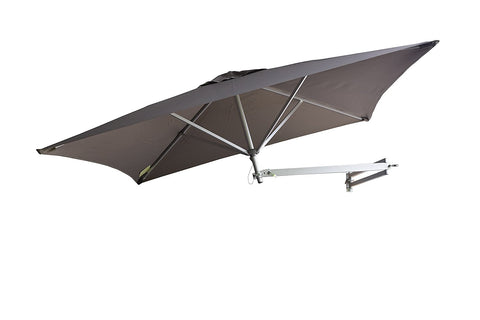 Easysoll 2m square wallmounted umbrella