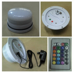 Led light with charger and remote