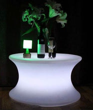 Led Lighted Round Table with curved sides