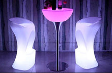 Led Cocktail Table with metal base
