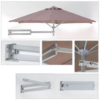 Easysoll Wall Mounted Umbrella 2.7m Hexagonal