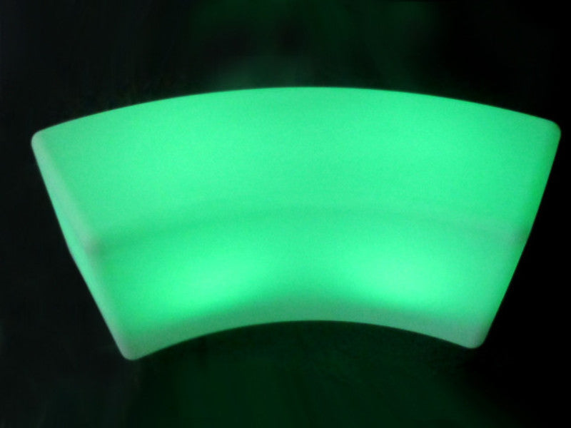 LED Lighted Curved Bench 120x40x40cm