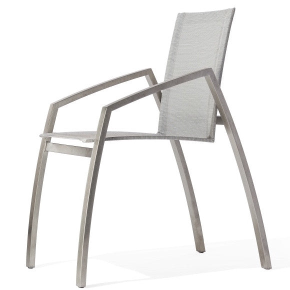 Todus Stainless Steel Chair with Batyline Material available in South Africa online : Patiostyle.co.za -Luxury outdoor Living