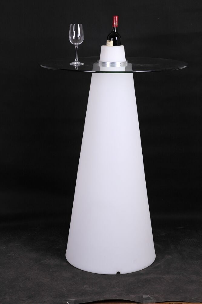 Led Cocktail Table with Glass  Top