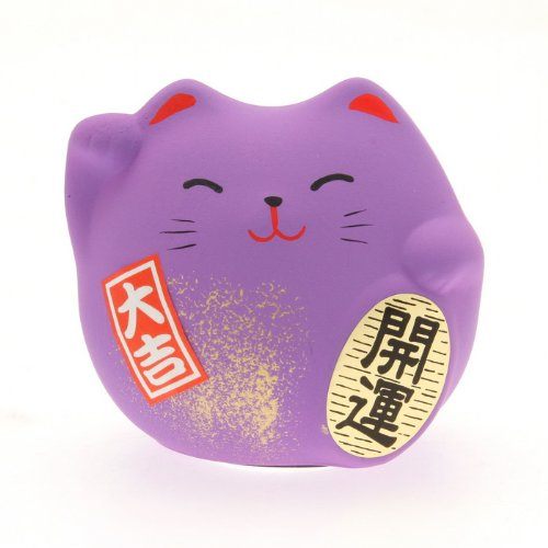Kotobuki Maneki Neko Charm Ningenkankei-un CoitivePosllectible Figurine, Friendship, Purple