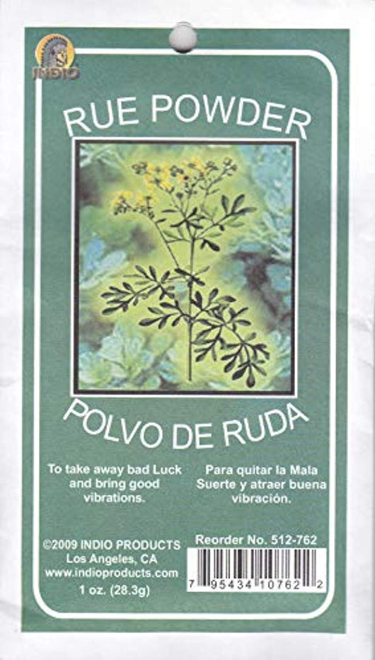 POLVO de RUDA RUE POWDER - To DRIVE AWAY BAD LUCK & BRING GOOD VIBRATIONS 2 OZ pkt