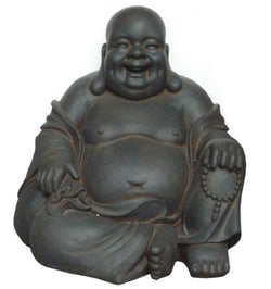 24-Inch Happy Sitting Buddha Statue, Large