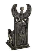 Resin Statues Ancient Egyptian Goddess Of Healing Sekhmet Sitting On Throne Statue 5 X 11 X 5 Inches Brown