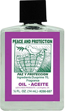 (1Pack) Indio Products Spiritual Anointing Oil- PEACE/PROTECT 1/2oz