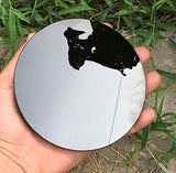 "4.7"" 12cm Black Obsidian Scrying Mirror Alchemy/Yoga Energy"