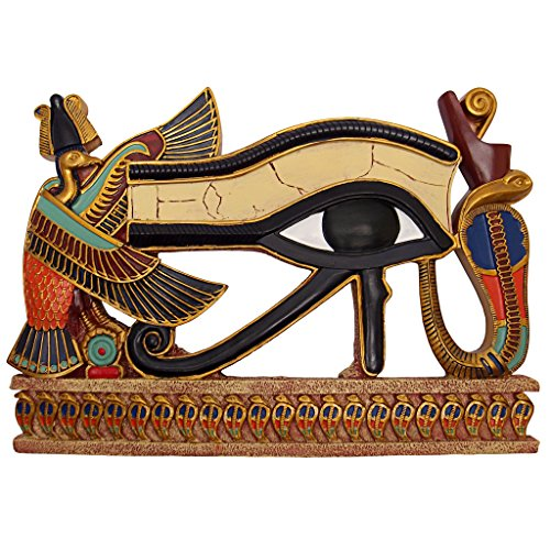 Design Toscano Egyptian Eye of Horus Wall Sculpture, Full Color