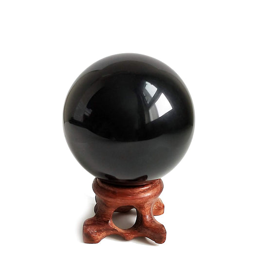 Heal Obsidian Crystal Ball for Fengshui Ball, Meditation, Crystal Healing, Divination Sphere, Home Decoration, 100% Natural and Genuine (50 mm)