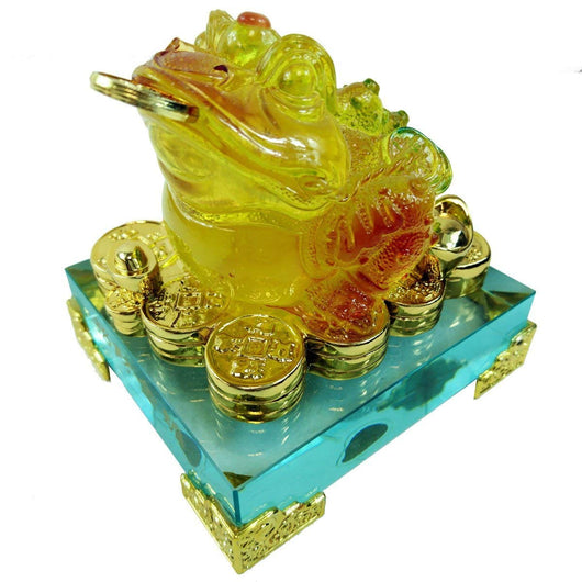 Hongville Traditional Chinese Feng Shui Decor Fortune Wealth Prosperity Decorative Statue, Gold Wealth Sailing Ship