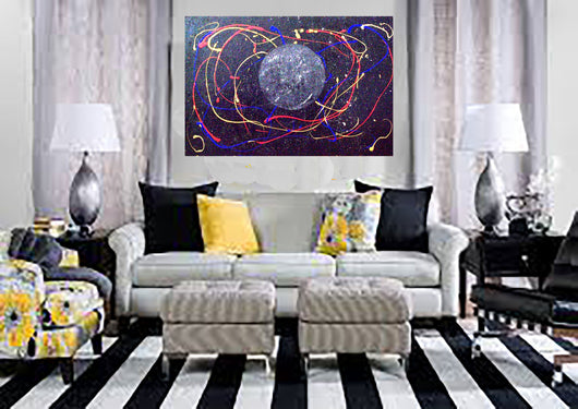 Large Unique Original Inspirational Abstract Contempory Painting Called Thy Almighty ..ArtebyEsther
