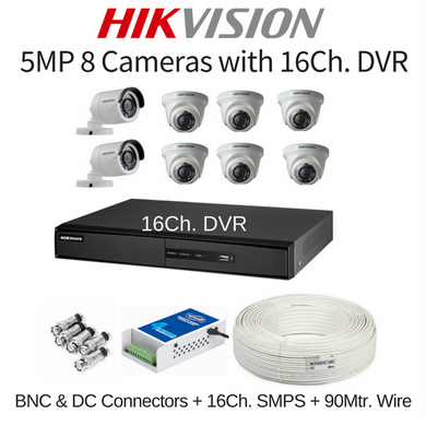 Buy HIKVISION HD CCTV Camera and DVR at lowest Price in India