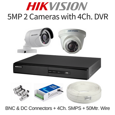 Hikvision 5MP 2 Cameras with DVR Combo Kit