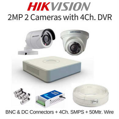 Hikvision 2MP 2 Cameras with DVR Combo Kit