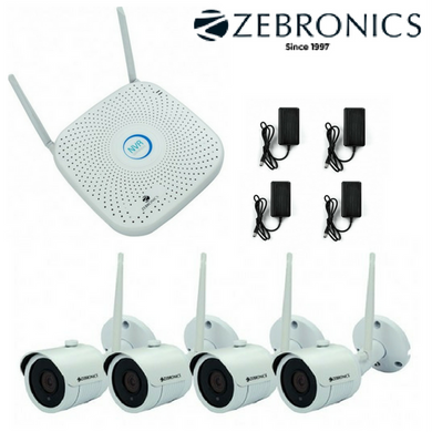 Zebronics 2MP FullHD Wireless 4 CCTV Cameras with 4Ch. NVR Kit
