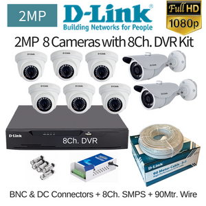 D-Link 2MP 8FullHD CCTV Camera with DVR Combo Kit