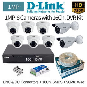 D-Link 1MP 8HD CCTV Camera with 16Ch. DVR Combo Kit