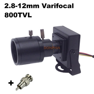 800TVL Vari-Focal Lens Mini Camera 2.8mm to 12mm Adjustable Lens CCTV Camera
