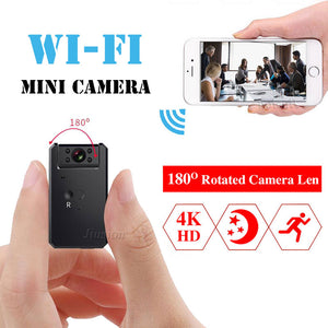 Mini WiFi Camera 4K HD 1080P Video Audio Recorder with IR Night Vision Motion Detection