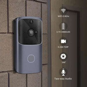 Wireless Video Door Phone Mobile APP Control - SD Card Recording (Battery Operated)