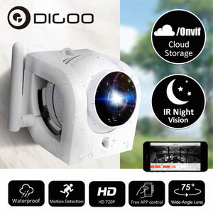 Wireless Outdoor CCTV Camera SD Card and Cloud Recording, Motion Detection Alarm