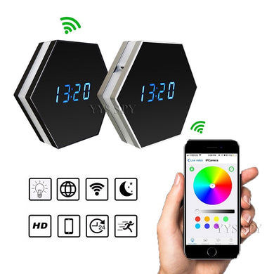 Mini Wifi Camera Two-Way Audio Recorder Night Vision Motion Sensor with Colorful LED Lights