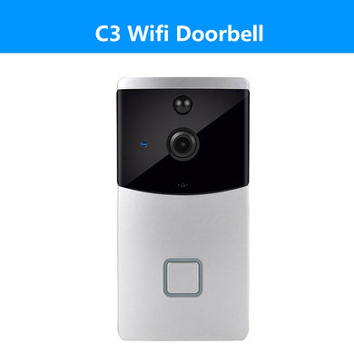 Wireless Video Door Phone System Mobile App Motion Detection Alert In-Built Battery, WiFi