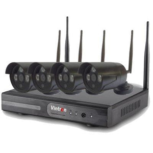 Vintron 4 Wi-Fi Wireless CCTV Cameras with NVR Kit (1.3MP)
