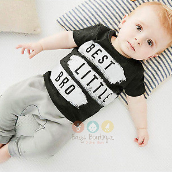 BEST LITTLE BRO Baby Boy 2Pcs Set