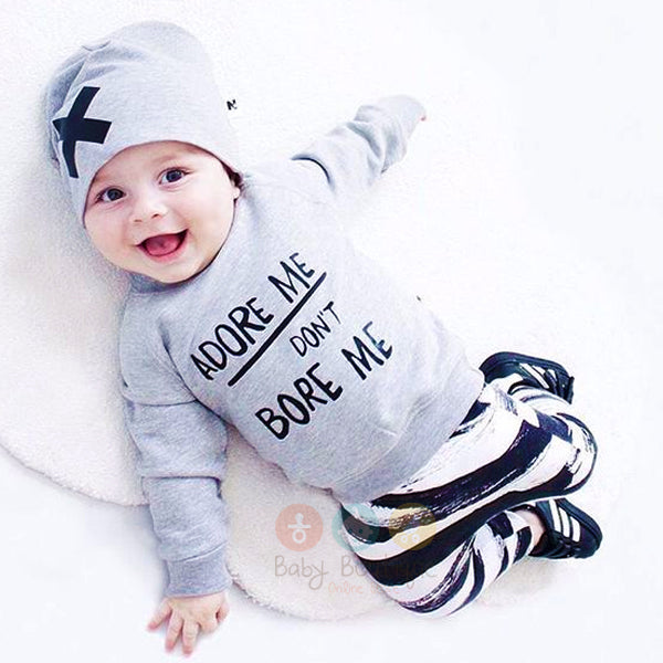 Baby Boy ADORE ME DON'T BORE ME 3PCs Set