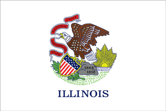 Illinois State Nylon Flags