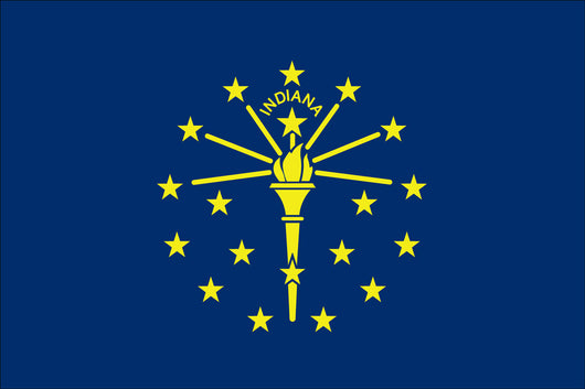 Indiana State Nylon Flags