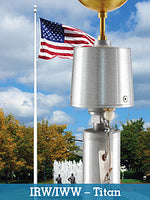 Architectural Internal Halyard Series Flagpole 40'-80'