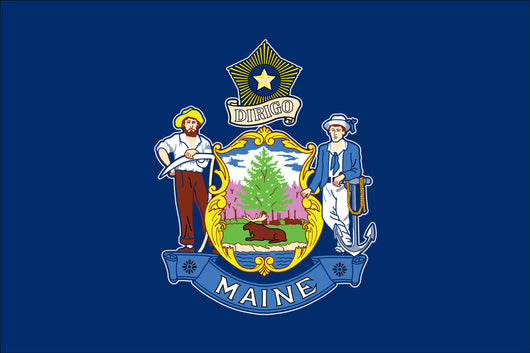 Maine State Nylon Flags