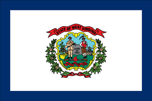 West Virginia State Nylon Flags