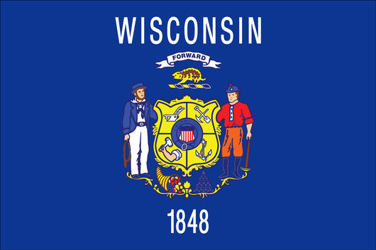 Wisconsin State Nylon Flags