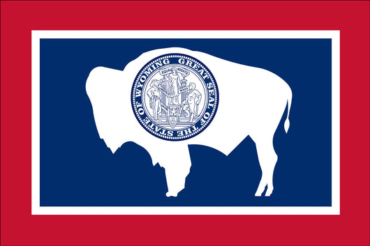 Wyoming State Nylon Flags