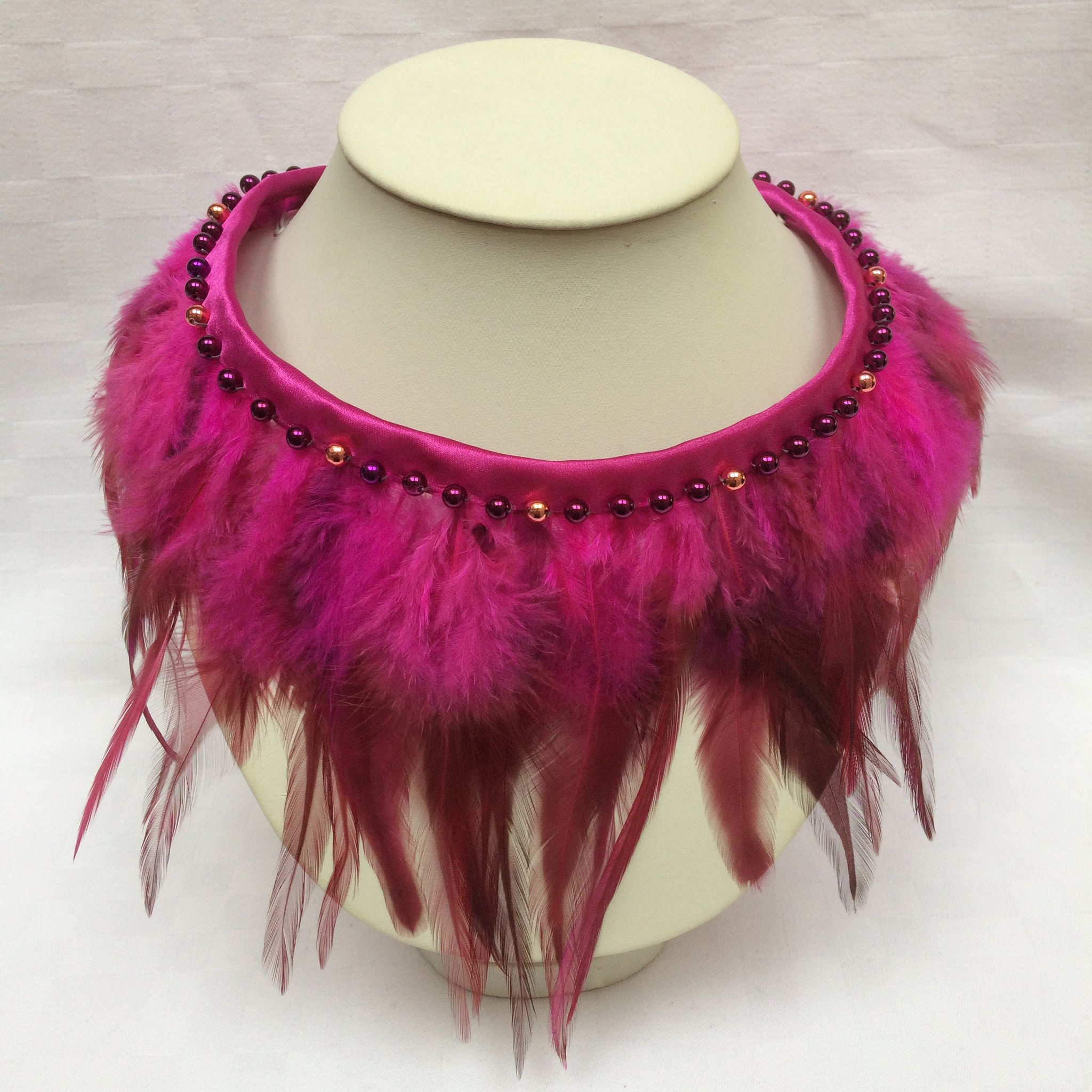 Pink Feather Collar
