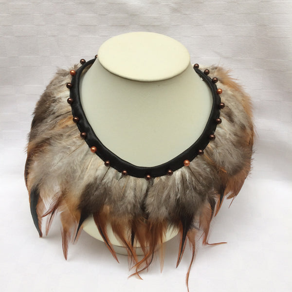 Natural Feather Collar