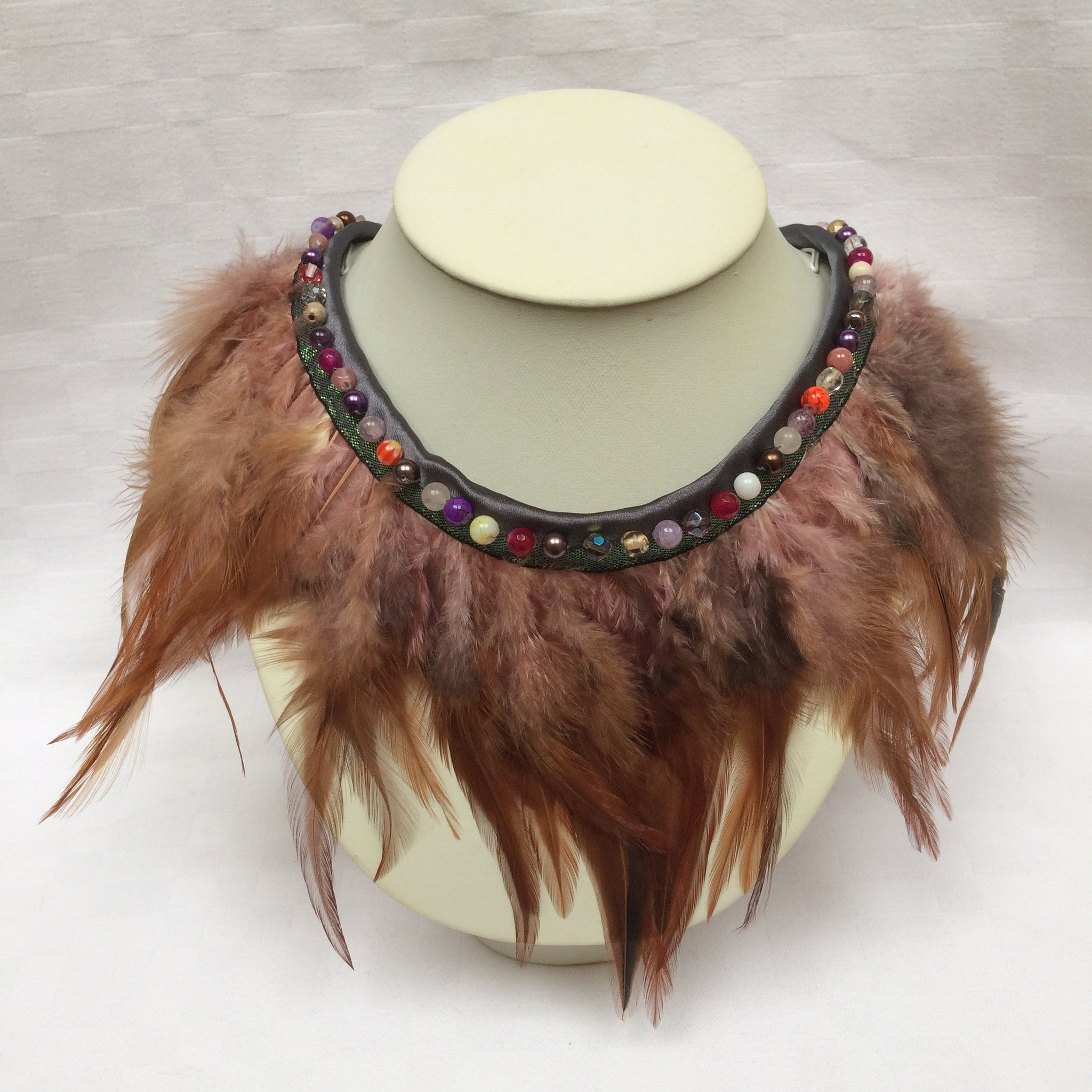 Brown Feather Collar