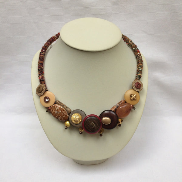 Brown Shades Collar necklace