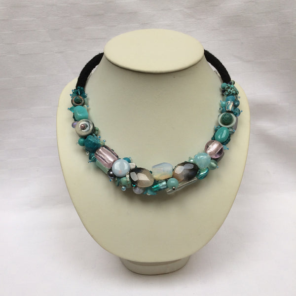 Blue Shades Collar necklace